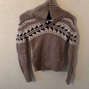 Aritzia TNA Cowl neck sweater 100% lambs wool